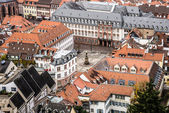 Heidelberg from above - University Square — Stock Photo