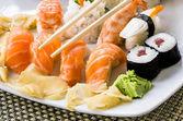 Sushi Plate - Close Up — Stock Photo