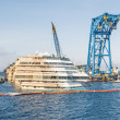 Wreck of Costa Concordia after the successful Parbuckling — Stock Photo