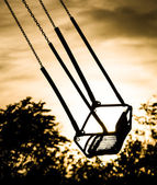 Merry Go Round at Sunset - Empty Seat — Foto de Stock