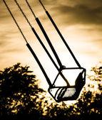 Merry Go Round at Sunset - Empty Seat — Stock Photo