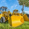 Yellow Bulldozers in the Nature — Stock Photo