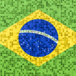 Brazilian flag on a textured Background — Stock Photo
