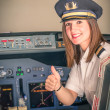 Female Pilot ready for Take Off — Stock Photo