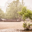 Railay Beach under a tropical rain - Ao Anng, Thailand — Stock Photo