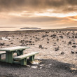 Stock Photo: Desert Landscape in Iceland at Sunset