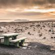 Desert Landscape in Iceland at Sunset — Stock Photo