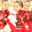 Stock Photo: Cheerleaders - Moment of Relax