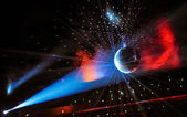 Party Lights on a Discoball — Stock Photo