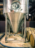 Distillation Tank in Microbrewery — Stock Photo