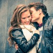 Stock Photo: Couple in love - Beginning of Love Story