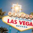 """ Welcome to Fabulous Las Vegas "" sign on a bright sunny day — Stock Photo"