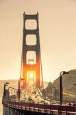 Golden Gate Bridge - San Francisco at Sunset — Stock Photo