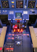 Throttle and control panel - Flight Simulator — Stock Photo