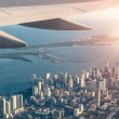 Miami skyline from the airplane — Stock Photo #38905019