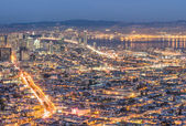 San Francisco Bay - Skyline from the high point of Twin Peaks — Stock Photo