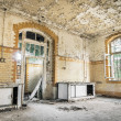 Abandoned Hospital in Beelitz Heilstaetten near Berlin in German — Stock Photo