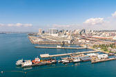 San Diego skyline and waterfront — Stock Photo
