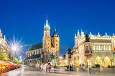 Rynek Glowny - The main square of Krakow in Poland — Stock Photo