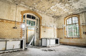 Abandoned Hospital in Beelitz Heilstaetten near Berlin in German — Stock Photo