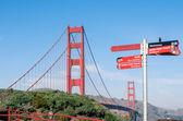 Golden Gate Bridge - San Francisco in a bright sunny day — Stock Photo