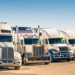 Stock Photo: Generic semi Trucks at parking lot