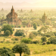 Ancient pagodas in Myanmar - Aerial view of Bagan valley — Stock Photo #41407799