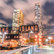 Pier of Long Island near Gantry Plaza State Park - borough of Qu — Stock Photo