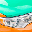 Stock Photo: Detail of taxi car in Toronto - Close up of Canaditaxicab