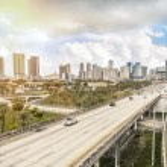 Miami skyline and Highways — Stock Photo #41737789