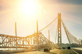 Oakland Bay Bridge in San Francisco before Sunset — Stock Photo