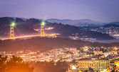 Golden Gate Bridge - San Francisco by Night — Stock Photo