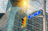 King Street Sign - Toronto downtown — Stock Photo