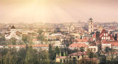 Vilnius oldtown - Aerial view of the capital of Lithuania — Stock Photo