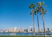 San Diego Skyline from Coronado Island — Stock Photo