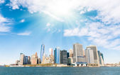 New York City - Manhattan skyline from a different point of View - Hudson River — Stock Photo