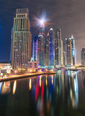 Dubai Marina Skyline by Night — Stock Photo
