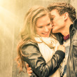 Couple at the beginning of a romantic love story - Fashion man w — Stock Photo #44560593