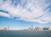 New York Skyline from Hudson River — Stock Photo
