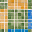 Multicolored glass tiles mosaic - Colorful background blocks pat — Stock Photo