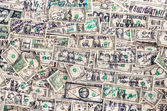 Heap of dollars banknotes background — Stock Photo