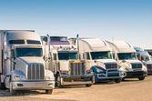 Generic semi Trucks at a parking lot — Stock Photo