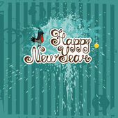 New Year greeting card vector template. — Stock Vector