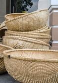 Baskets from straw — 图库照片