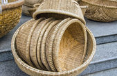Baskets from straw — Stock Photo