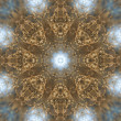 Golden Prairie Grass Field Weeds Kaleidoscope Digitally Manipulated — Stock Photo