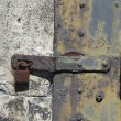 Stock Photo: Metal Lock and Latch With Grunge Rust and Grime
