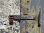 Metal Lock and Latch With Grunge Rust and Grime — Stock Photo