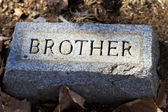Brother Granite Gravestone Marker — Stock Photo