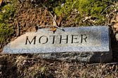 Mother Granite Gravestone Marker — Stock Photo